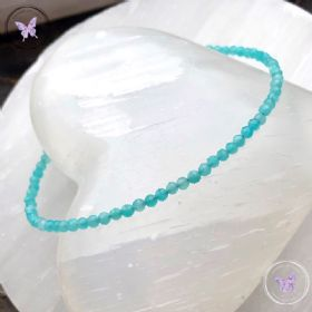 Amazonite Micro Faceted Beaded Bracelet